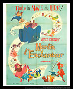 The Sword And The Stone Walt Disney 4x6 Ft Vintage French Grande Poster 1963