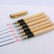 Duckbill Gothic Calligraphy Fountain Pen 0.7 - 2.9 Mm Nibs Natural White Wood