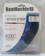 Boatbuckle F07674 2 X 20and039 Winch Strap With Tail End