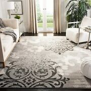 Safavieh Adirondack Collection Adr114b Silver And Ivory Contemporary Chic Damask