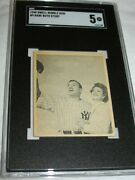 1948 Swell Bubble Gum 9 Babe Ruth Story Sgc 5 Ex