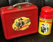 1950 Hopalong Cassidy Lunch Box Historic First Edition Exceptional W/thermos