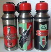 S Coca-cola Aluminum Water Bottle Thermo Complete Set -autogrill-