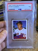 1990 Topps Double Headers Roger Clemens Psa 7 Boston Red Sox 6055