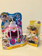 Omg Little Live Pets Set Of 2 Sooo Squishy Dogs And Bestie Bag New