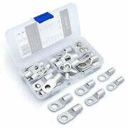 Wirefy Tinned Copper Wire Lugs - Battery Cable Ends - Ring Crimp Terminals