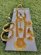 Usa Indian Bollywood Style Fashion Gold Plated Bridal Jewelry Necklace Set