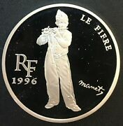 France - Silver 10 Franc Coin - Le Fifre - 1996 - Proof In Caps.