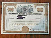 Ibm Stock Certificate 1960 1 Share Brown Old Style Nice Vignette Gift Idea