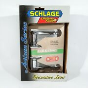 Schlage Artisan Series Door Lever Hall And Closet Bright Chrome - Right Hand Door