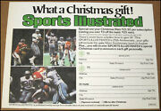 Vintage 1978 Sports Illustrated Christmas Gift Subscription Card Dallas Cowboys