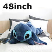 Disney Official Soft 48inch Huge Giant Stitch Plush Toy Cushion Bed Body Pillow