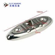 Isure Marine Stainless Steel Folding Stud Mount Cleat 8 Inch Cleat For Boat