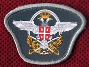 Serbia - Serbian Army - Nco Airforce Beret Patch For Dress Uniform - New Type