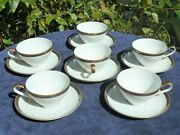 Kpm Krister Cups And Saucers 6 Pair Pattern 460 Circa 1952-65 Excellent Condition