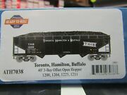 Athearn 7038 Ho Thandb 40 Ft 3 Bay Offset Hoppers With Loads 4 Pack 1