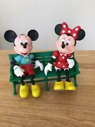 Limited To 1000 Wooden Mickey Mouse Minnie Mouse Figures Serial Number Unused