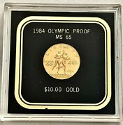U.s. Olympiad Xxiii 10.00 Gold Coin- Ms65 Please See Other Gold Coinsjewelry.