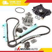 Timing Chain Kit W/o Gears Oil Water Pump Fit 97-02 Ford E150 F150 F250 Windsor