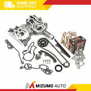 High Performance Timing Chain Kit Water Pump Timing Cover Fit 85-95 Toyota 22r