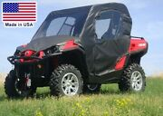 Can Am Commander Full Enclosure - Vinyl Windshield Roof Doors And Rear Window
