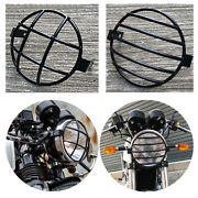 Basket Frame Guard Cover Grill Front Headlight Steel Black Royal Enfield Gt650