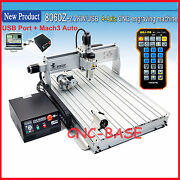 Usb 4 Axis 8060 2200w Cnc Router Engraving Milling Cutting Machine Engraver