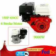 420cc 15 Hp 4 Stroke Replacement Motor 3600rpm Recoil Pull Start Forced Air Cool