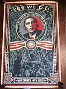 Obama Changed Poster-print Signed By Fairey Obey 534/5000 Rare