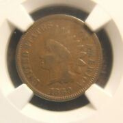1869 Indian Cent Vf-20
