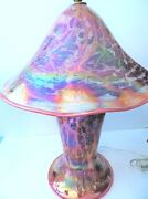 Mark And Marcus Ellinger Blown Glass Table Lamp Signed Mint