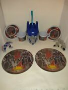 Transformers, 9 Piece Set 2 Each-plate-cup-bowl And 1 Slurpee Cup Mint Cond.
