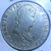 1820 Mo Jj Mexico 8 Reales Km 111.5 World Foreign Silver Coin Crown