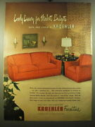 1950 Kroehler Sofa And Chair Ad - Lovely Luxury For Modest Budgets