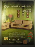 1950 Kroehler Crescent-shaped Sofa And Chair Ad - Enjoy This Beauty