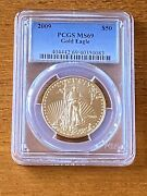 2009 Pcgs Gold One Ounce Eagle 50 Ms-69 Pcgs Ms69