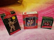 Hallmark Brass Plated Elvis Lucy And Me And Country Cat Ornaments 3 Items