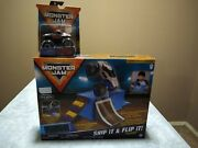 Monster Jam ⭐ Ship It And Flip It Playset ⭐+alien Invasion 👽 +zombie 🧟truck New