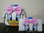 Loungefly Disney Donald Duck Daisy Duck Reversible Mini Backpack With Wallet Nwt