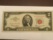 1963 Two Dollar Bill 2 Red Seal Note A 121294433 A