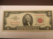 1963 Two Dollar Bill 2 Red Seal Note A 07532698 A