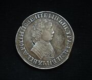 Russia Rouble 1704 .peter I. Re-stamp On Yefimok 1655 Thaler Very Rare
