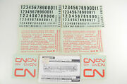 Walthers O Scale Canadian National Passenger Car Decals - 30620