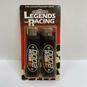 Nascar 2000 Cigarette Lighters Twin Pack Legends Of Racing New Old Stock Nos