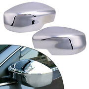 Rearview Wing Door Mirror Cover Cap Trim Fit For Nissan Sylphy Sentra 2013-19