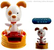 Solar Pal Puppy Dog With Bowl In Basket Moving Figure Home Office Car Brand New