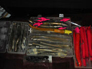 Large Lot Of Plastic Fishing Lures With Lead Heads
