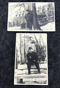 Ww2 Photo Wwii German Pc German Soldier Lot Of 2 Postcards / Unposted Agfa
