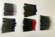 """5"""" Dipped Bass Stick-o Tubes, Five 20 Packs, 5 Colors Finesse Fishing Lures Usa"""