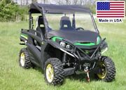 Half Cab Enclosure For John Deere Rsx/hux/hpx - Vinyl Windshield Roof And Rear